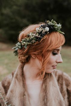 Bridal flower crown   Wedding & Party Ideas   100 Layer Cake