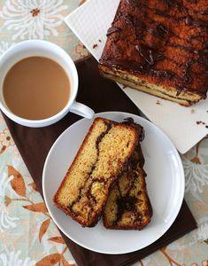 Low Carb Chocolate Orange Swirl Bread, a delicious almond flour quick bread with a swirl of sugar-free dark chocolate. #keto #lowcarb #sugarfree via @dreamaboutfood