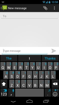 The SwiftKey Holo theme, inspired by Android's Holo design principles, and launched with SwiftKey 3 in June 2012.