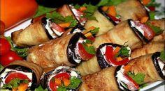 Не закуска, а объедение — острые рулетики из баклажанов «Тёщин язык». Необыкновенно пикантная, острая