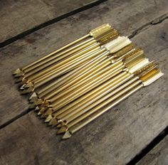 Golden arrow toothpicks.