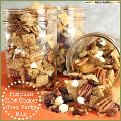 If you're looking for delicious, fall treats, this Pumpkin Slow Cooker Chex Party Mix Recipe is the perfect choice! Packed with fall ingredients, this Chex mix recipe for slow cooker is easy to prepare and bursting with flavor.