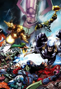 GUARDIANS OF THE GALAXY, Inhumans, Beta Ray Bill, Ronan....