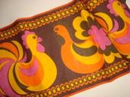 Retro Easter Danish textile table runner - 1970es Jute. #retro #Danish #Easter #textile #1970 #dansk #påske #tekstil #bordløber
