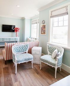 "House of Turquoise: Dream Home Tour - Day Four Bedroom paint – Sherwin-Williams ""Tidewater"" SW 6477"