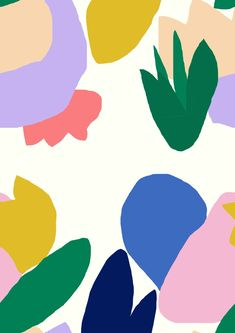 Ideas Flowers Colorful Painting For 2019 Abstract Shapes, Abstract Pattern, Abstract Art, Design Graphique, Art Graphique, Colorful Paintings, New Wall, Pattern Wallpaper, Flower Prints