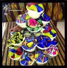 All Things Ankara: Patries: Olori V's Birthday Ankara Cupcakes
