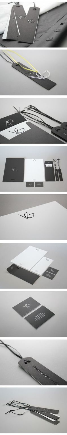 Vanessa Gate. Womenswear Designer Brand Identity by Jonathan Finch via Behance: