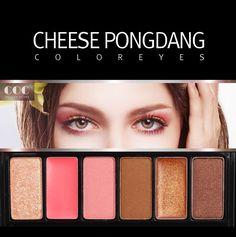COC 6 Color Shimmer Eye Shadow Palette Korean Cosmetics Beauty Eyeshadow #COC