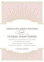 Modern Deco Wedding Invitations by Vellum and Vogu... | Minted