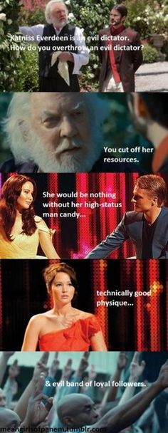 Hunger Games/ Mean Girls.  Pretty funny.