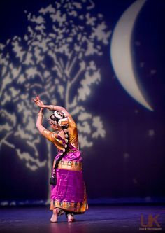 Neha doing the meera dance during her arangetram at for Arangetram stage decoration ideas