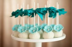 lovely teal party pops