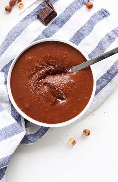 DIY Nutella in just 4 INGREDIENTS! #vegan #glutenfree #snack #minimalistbaker