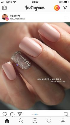 Valley Nail Care & Spa San Jose Ca 95121 order Acrylic Nails Neutral Designs unless Top Nail Care Products Gorgeous Nails, Love Nails, Pretty Nails, My Nails, Nail Deco, Wedding Nails Design, Nail Design, Neutral Nails, Neutral Colors
