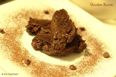 Delicious eggless Chocolate Biscotti
