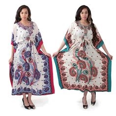 Peacock Paisley Kaftan by KellyzCouture on Etsy