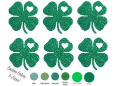 Diy St PATRICKS SHAMROCK CLOVER Iron On Applique Heat Transfer Vinyl, Set of 6, Cheer Bow, Shirt, Girl, Adult, Kid, Child, Mini Decal, Patch by wingsnthings13 on Etsy