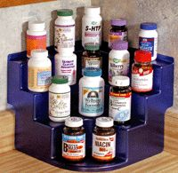 Now I haven't seen this stepped organizer for a corner of your pantry or cabinet!  I really like this...  http://www.GetOrganizedWithBridges.com