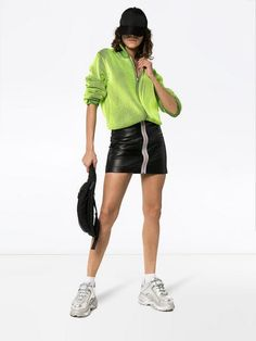 0570be3ec Heron Preston Reflective tape leather mini skirt $741 - Buy SS19 Online - Fast  Global Delivery