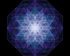 Refraction 3D Holographic Mandala ~ Refracted geometric light creates multi-faceted perspectives of experience.