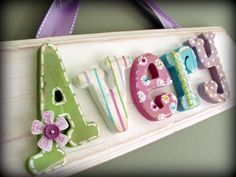 www.myadornables.etsy.com ~ custom children's wall letters, names and decor
