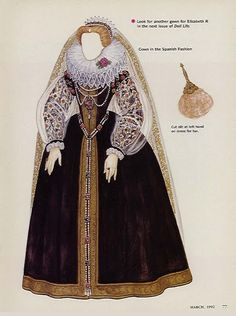 Queen Elizabeth I by Brenda Sneathen, from Doll Life, March 1992, p4 | babyideas2000@h puppet story – Picasa Nettalbum