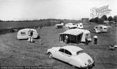 Tewkesbury, The Caravan Park c.1960. Part of The Francis Frith Collection free to browse online. #francisfrith