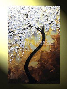 Resultado de imagem para como pintar cerejeira tela