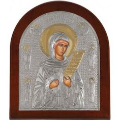 Saint Paraskevi Silver 925 Orthodox Icon.