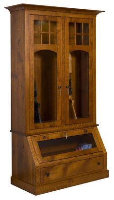 American Tribecca Gun Cabinet Safety, Security And Style Come With This  Solid Wood Gun Cabinet.