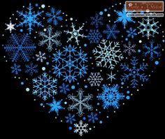 Snowflake heart cross stitch kit   Yiotas XStitch