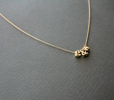 Gold Personalized Necklace 3 Letter Personalized by StudioGoods, $26.00