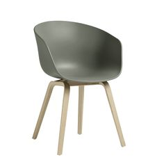 Hay Design About A Chair AAC22 Stuhl Dusty Green Eiche geseift