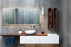 Cam, I love the tiles / wallpaper mixed in with wood - Minosa Design