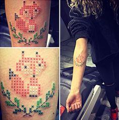 tatouage point de croix
