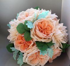Un preferito personale dal mio negozio Etsy https://www.etsy.com/it/listing/494177208/handmade-english-rose-and-dahlias-bridal