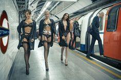 Bluebella catwalk on London Underground   Lingerie Fashion Editorial
