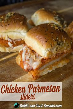 Baked Chicken Parmesan Sliders - So Easy & Delicious!