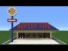 Minecraft Tutorial: How To Make A Burger King (Restaurant) - YouTube   The first video of a playlist of real buildings