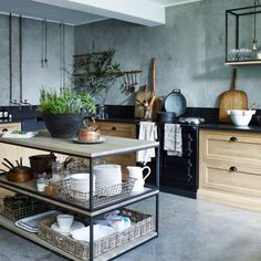 Kitchen trends 2020 – stunning and surprising kitchen design trends and ideas for the new year New Kitchen, Kitchen And Bath, Kitchen Dining, Kitchen Island, Kitchen Decor, Shaker Kitchen, Dining Room, Beautiful Kitchens, Cool Kitchens