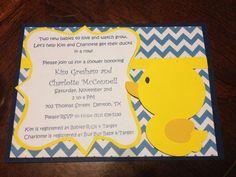 Rubber duck baby shower invites