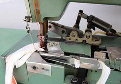 WILLCOX & GIBBS (PEGASUS) 43-02X364 Cover Stitch 3-Needle 5-Thread Self Oiler Fold Binder Pneumatic Back Chopper Industrial Sewing Machine