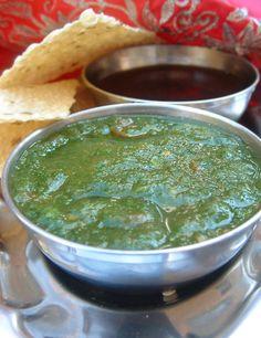 sauce indienne a la coriandre