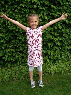 Candy jurk uit La Maison Victor Stof van Nosh Organics, van bij Georgette