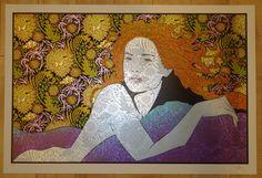 Oceanid - Silkscreen art print by Chuck Sperry