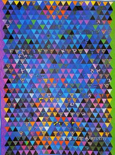Pieced Quilt Norfolk Hue 1978, thousand pyramids  OMG...This is just beautiful Flickr