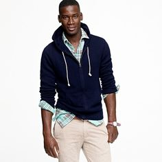 Zip-up hoodie, dressed up in cashmere