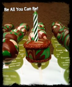 Be all you can be! Camo cake pops
