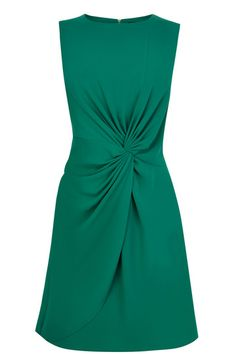 This super flattering shift dress has an asymmetric drape and twist feature on the front. The piece features sleeveless styling and a high crew neckline. The piece is finished with an exposed metallic zip fastening on the reverse. Black Satin Dress, Satin Dresses, Formal Dresses, Champagne Bridesmaid Dresses, Bridesmaids, Oasis Dress, Knot Dress, House Dress, Draped Dress